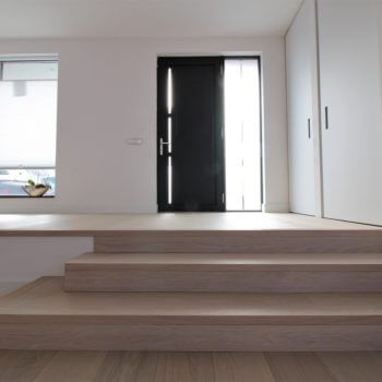 Full body stairs from parquet in Amsterdam
