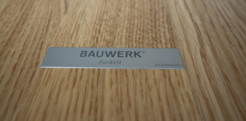 De Bauwerk ID-Strip is het item die u nodig heeft voor de verlengde garantie op de Bauwerk parket producten.