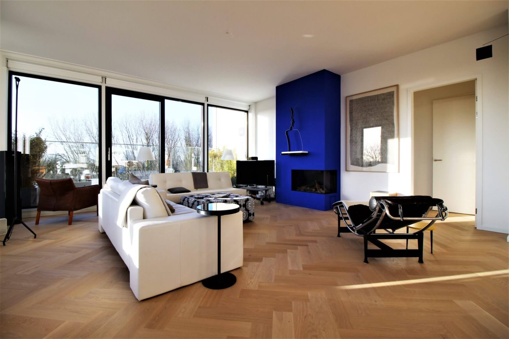 Bauwerk quadrato visgraat parket op vloerverwarming amsterdam