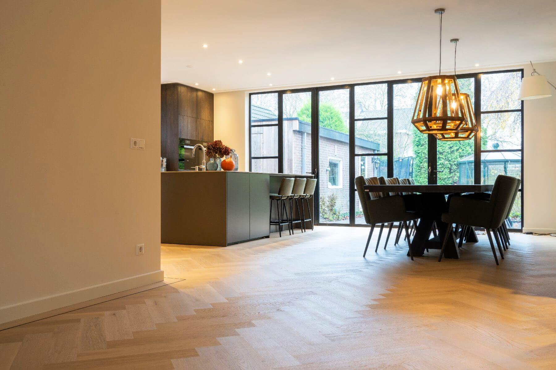 Bauwerk Formpark Quadrato Crema in de keuken